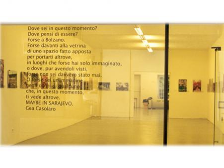 Exhibition view, Maybe in Sarajevo, 2000