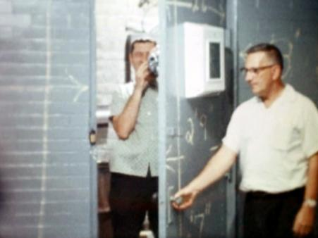 William E. Jones, still from Tearoom, 1962/2007, 16mm film transferred to video, colour, silent, 56 minutes Courtesy the artist and David Kordansky Gallery, Los Angeles