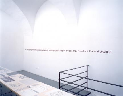 Exhibition view, Outside-in, 2000