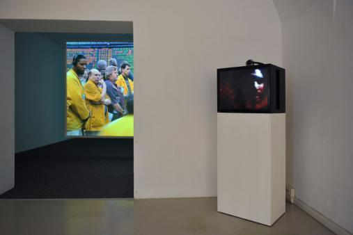 Exhibition view Mark Boulos,  2010 Photo: M. Pardatscher