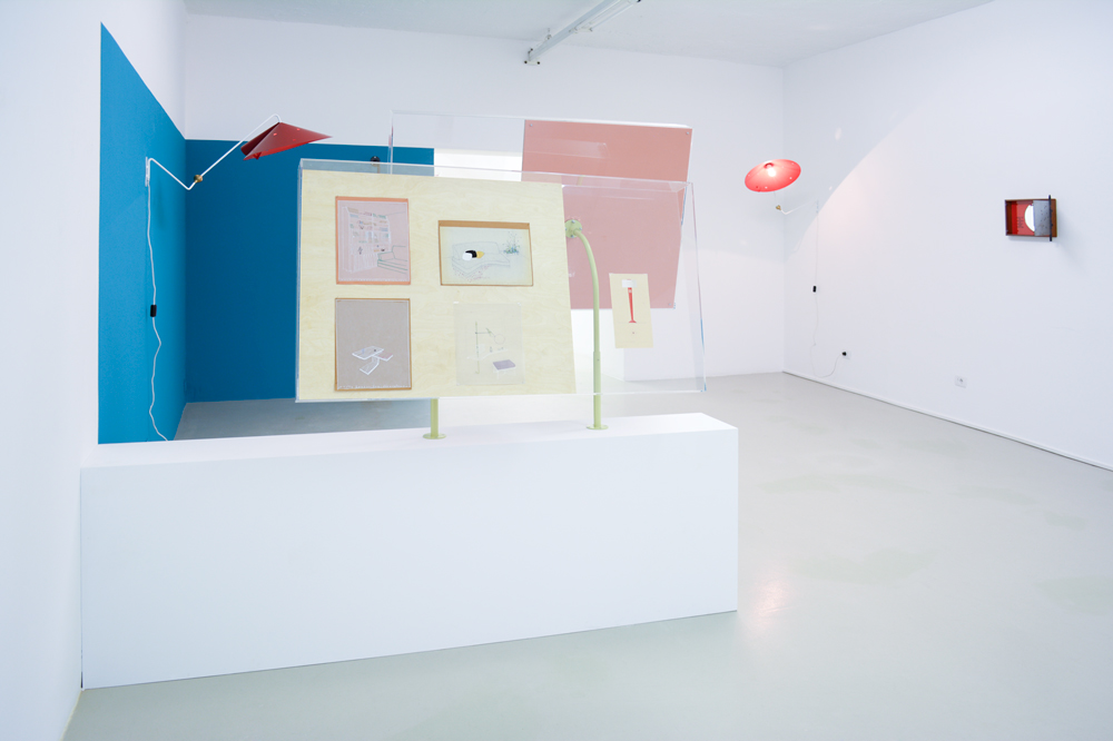 Janette Laverrière in collaboration with Nairy Baghramian, installation view, 2014. Courtesy of the artists and Silberkuppe Berlin, photo by aneres