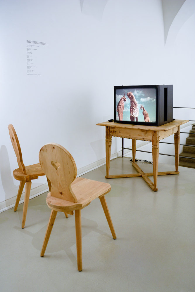 Gareth Kennedy, Die Unbequeme Wissenschaft (The Uncomfortable Science) Installation view (Film from the Austrian Mediatech)  © ar/ge kunst, ANERES 2014