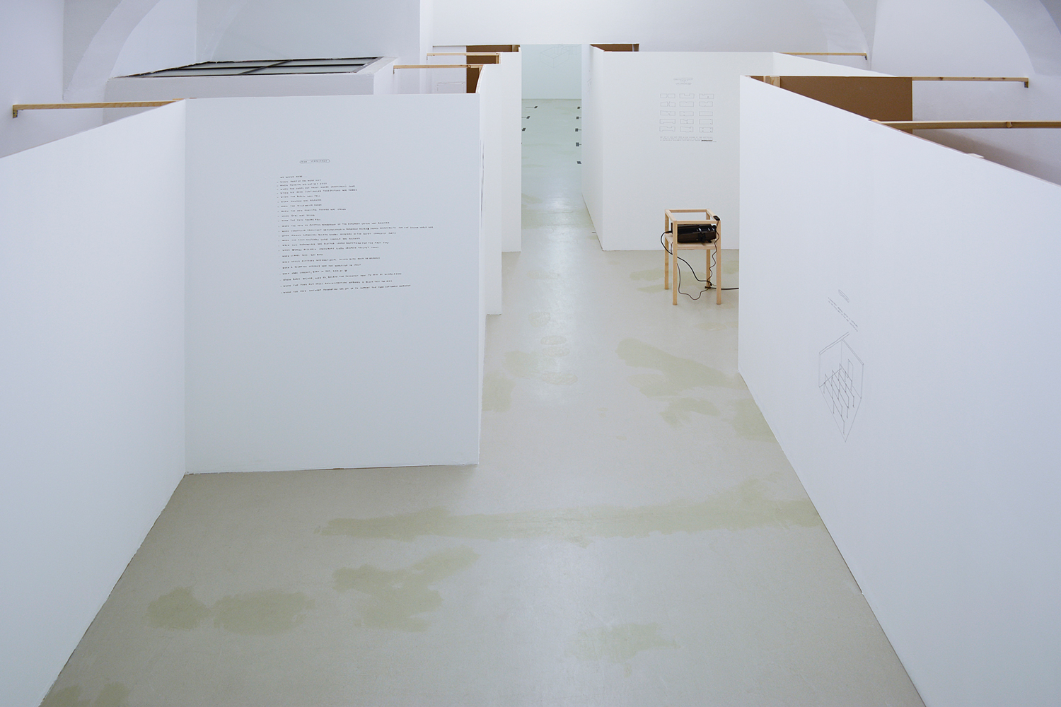 Spatial Dispositions, Aldo Giannotti, Installation View, ar/ge kunst, Bozen/Bolzano 2015 photo aneres