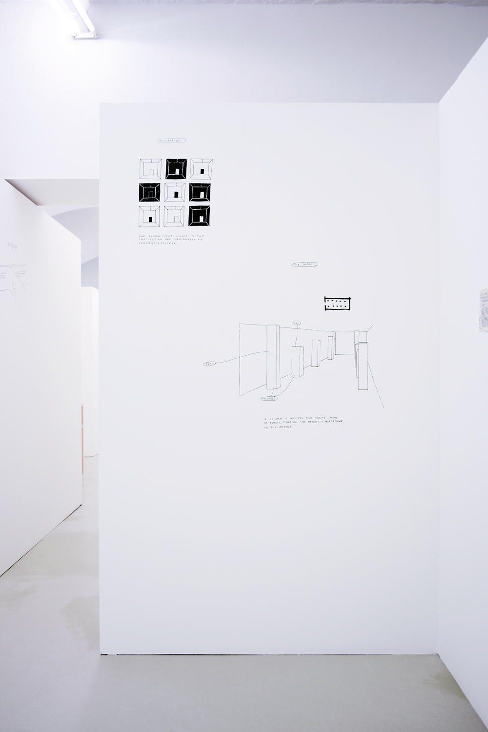 Spatial Dispositions, Installation View, Aldo Giannotti, ar/ge kunst, Bozen/Bolzano 2015 photo aneres