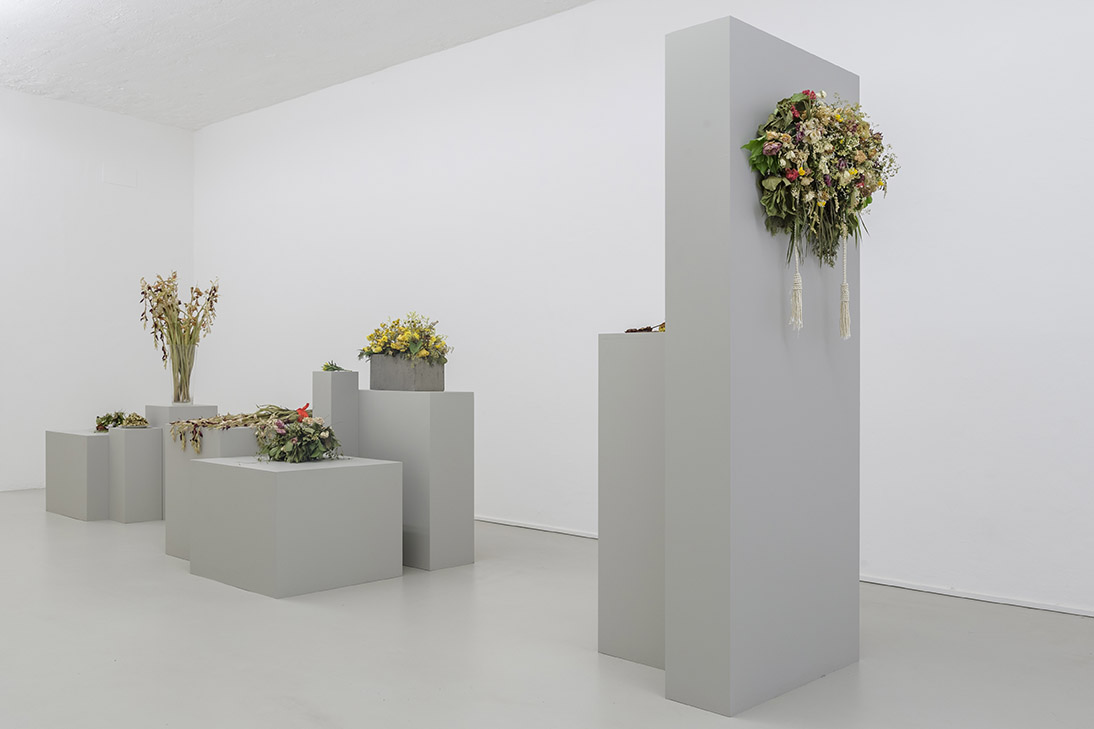 Kapwani Kiwanga, Flowers for Africa, 2014 – in progress Cut flowers. Installation view (22.06.17), photo Guadagnini ©argekunst